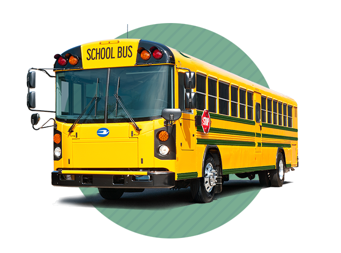Compressed Natural Gas is a very safe alternative fuel. Blue Bird School Buses.